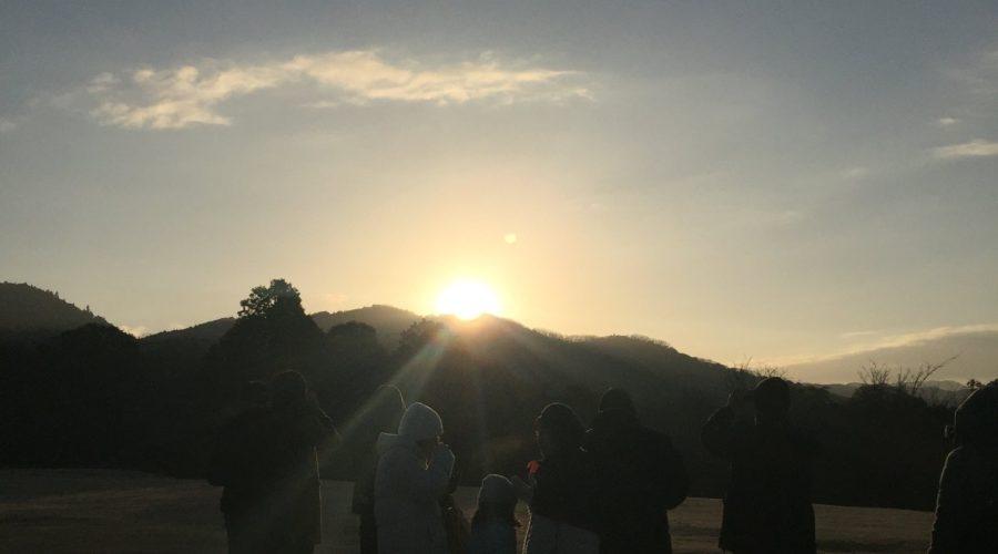 奈良公園で初日の出